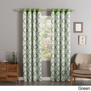 Aurora Home Moroccan Tile Print Room Darkening Grommet Top Curtain Panel Pair