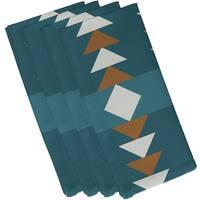 Teal Polyester 19x19 Sagebrush Geometric Print Napkin