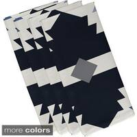 Navy Blue Polyester 19x19 Mesa Geometric Print Napkin