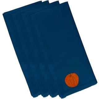 Blue Polyester 19x19 Li'l Pumpkin Holiday Print Napkin