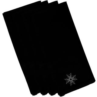 Black Polyester 19x19 Web Art Holiday Print Napkin