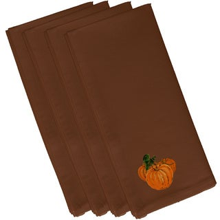Brown Polyester 19x19 Tres Calabazas Holiday Print Napkin