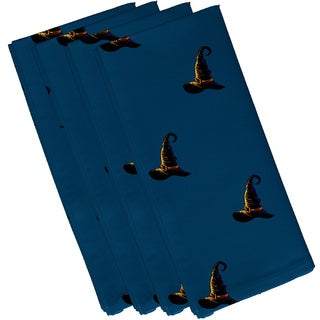 Teal Polyester 19x19 Witches Brew Holiday Print Napkin