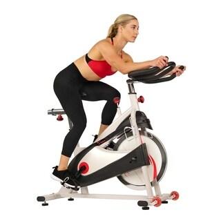 Sunny Health & Fitness SF-B1509 Belt Drive Premium Indoor Cycling Bike - White