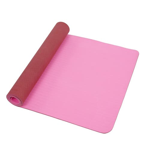 Sunny Health & Fitness No. 071P Pink/ Marsala TPE Exercise Yoga Mat