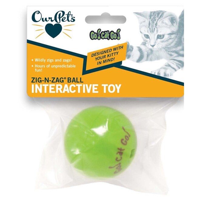 Our Pets Zig-N-Zag Ball Cat Toy (Colorful Bag)