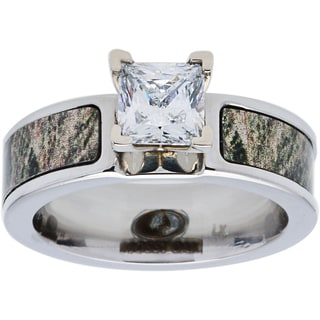 Mossy Oak Cobalt Cubic Zirconia Solitiare 6mm Engagement Ring