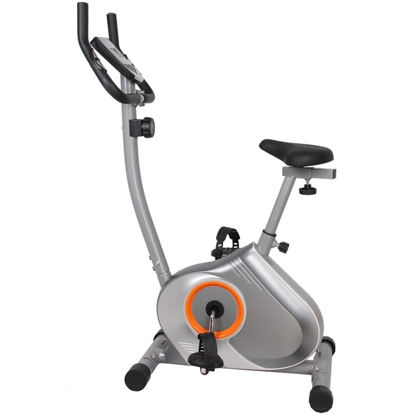 GYM of Fitness FN98002B Upright Magnetic Exercise Bike - Silver