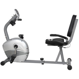 GYM of Fitness FN98011B Magnetic Recumbent Exercise Bike - Silver