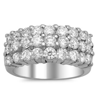 Artistry Collections White Gold 2 1/3ct TDW Diamond 3-row Ring (E-F, VS1-VS2)