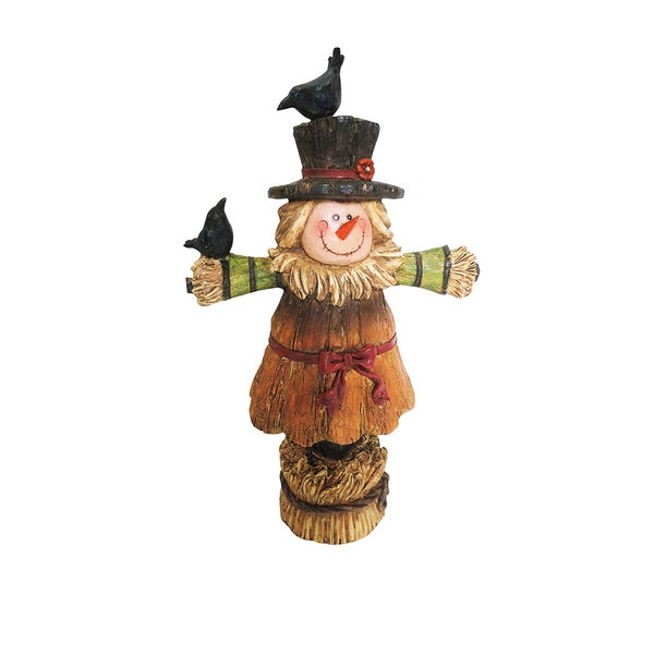 12-inch Girl Scarecrow Harvest Statuary