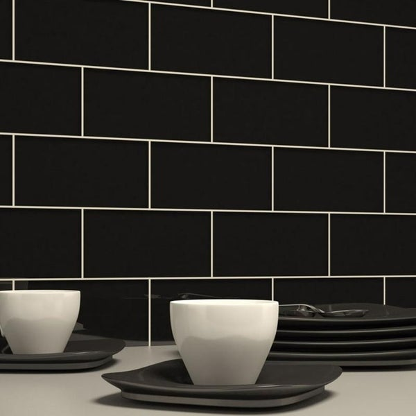 Black Subway Tiles (5.5 Square Feet) (44 Pieces per Unit)