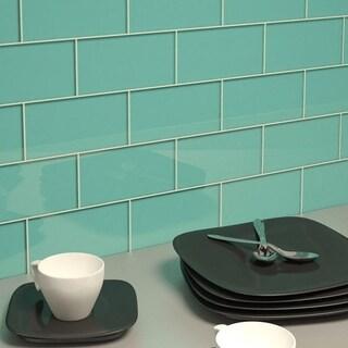 Teal Subway Tiles (5.5 Square Feet) (44 Pieces per Unit)