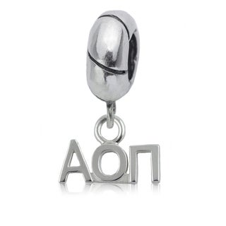 Alpha Omicron Pi Sterling Silver Charm Bead
