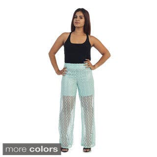 Ella Samani Women's Lace Pants|https://ak1.ostkcdn.com/images/products/10486616/P17574706.jpg?impolicy=medium