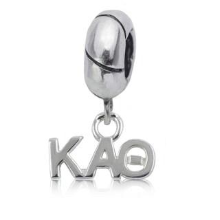Kappa Alpha Theta Sterling Silver Charm Bead