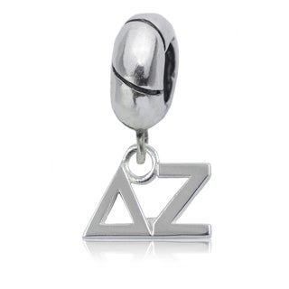 Delta Zeta Sterling Silver Charm Bead