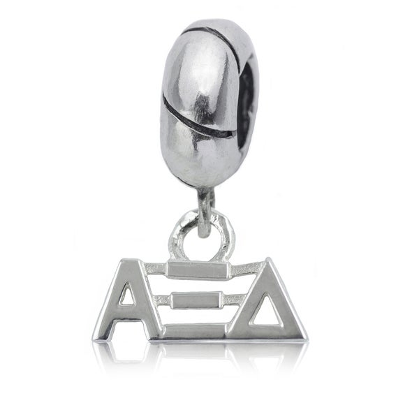 Shop Alpha Xi Delta Sterling Silver Charm Bead Free Shipping On