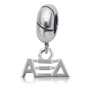 Alpha Xi Delta Sterling Silver Charm Bead