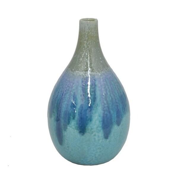 Blue-colored Ceramic Vase Ceramic Vase