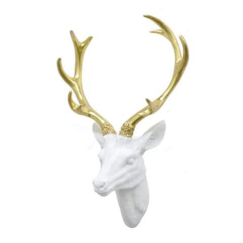Three Hands Resin Deer Head Wall Decor