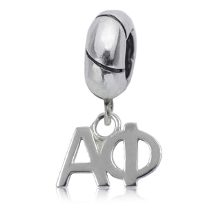Alpha Phi Sterling Silver Charm Bead