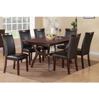 Rosi Black Leather Dining Chairs (Set of 6)