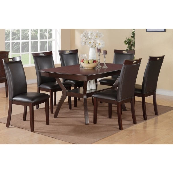 Shop Rosi Black Leather Dining Chairs Set Of 6