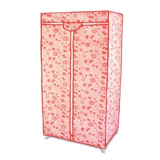 Pink Floral Wardrobe Organizer