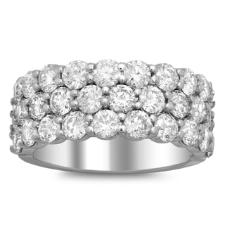 Artistry Collections 14k White Gold 3 5/8ct TDW Diamond 3-row Ring (E-F, VS1-VS2)