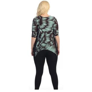 Ella Samani's Women's Plus Size Print Sharkbite Top