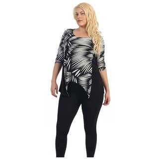 Ella Samani's Women's Plus Size Print Sharkbite Top