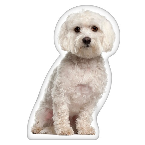 Maltese Shaped Pillow