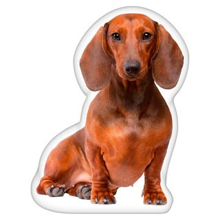 Dachshund Brown Shaped Pillow