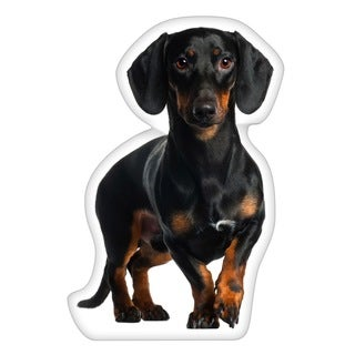 Dachshund Black Shaped Pillow