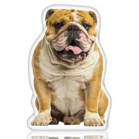 English Bulldog Shaped Pillow