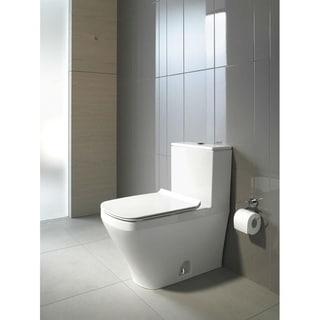 Duravit White Alpin Durastyle Elongated Toilet