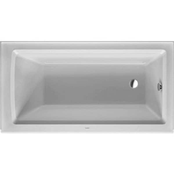 Duravit white alpin architec soaking bathtub free for Duravit architec tub