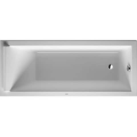 Duravit 66.88-inch White Alpin Starck Soaking Bathtub
