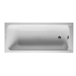 Duravit 63-inch White Alpin D-code Soaking Bathtub