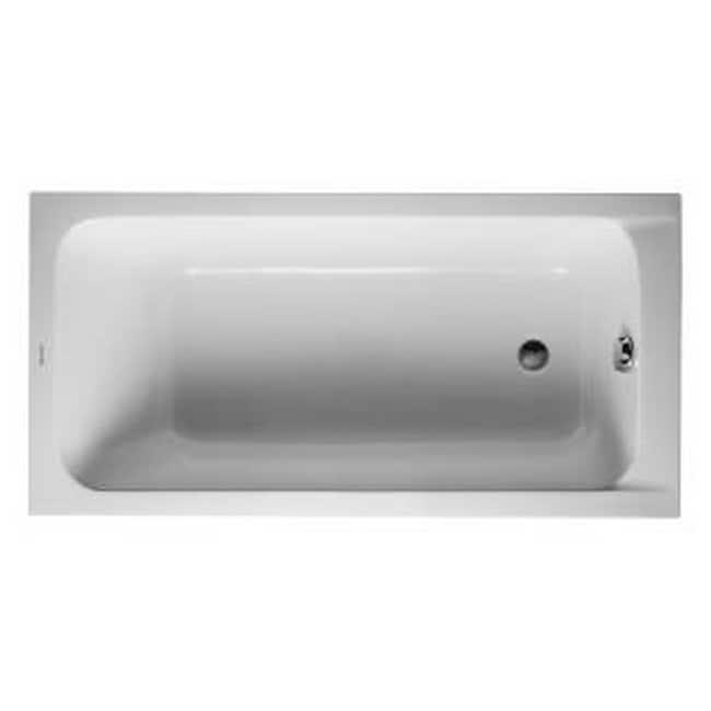 Duravit 59.13-inch White Alpin D-code Soaking Bathtub (Wh...
