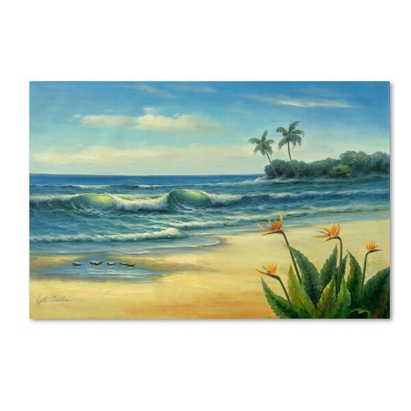 Victor Giton 'Paradise' Canvas Art