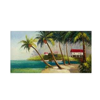Victor Giton 'Caribean Bay' Canvas Art