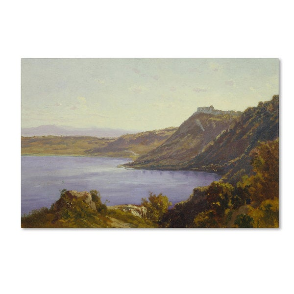 Antoine Joinville 'The Albano Lake' Canvas Art