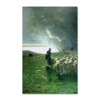 Giovanni Segantini 'After Storm' Canvas Art