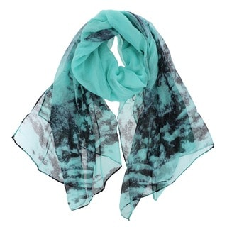 La77 Women's Watercolor Tree Scarf