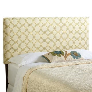 Humble + Haute Bingham Full Size Ivory/ Green Upholstered Headboard