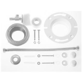 Duravit 1-inch White Alpin Toilet Installation Kit