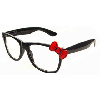 Red Bow Accent Black Classic Glasses|https://ak1.ostkcdn.com/images/products/10486934/P17574974.jpg?_ostk_perf_=percv&impolicy=medium