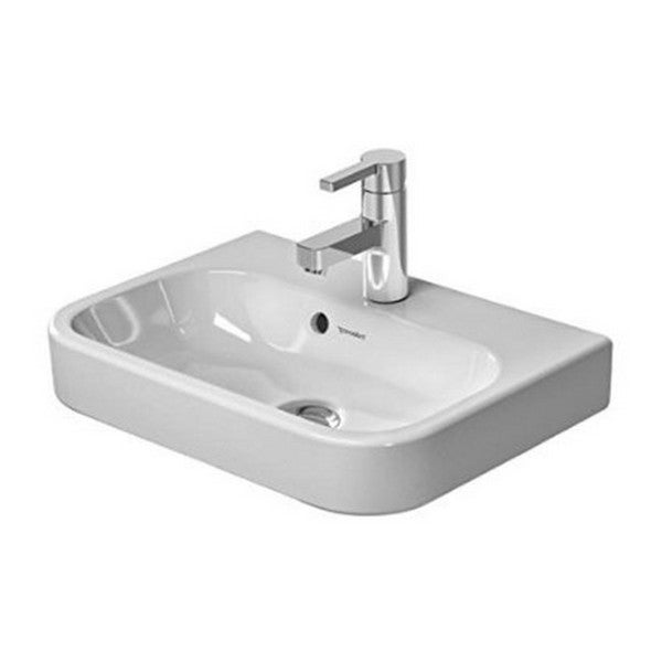 Duravit White Alpin Happy D Wall-Mount Porcelain Bathroom Sink - Free ...